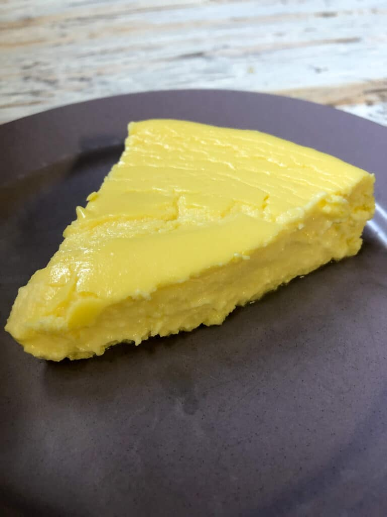 crustless cheesecake on plate