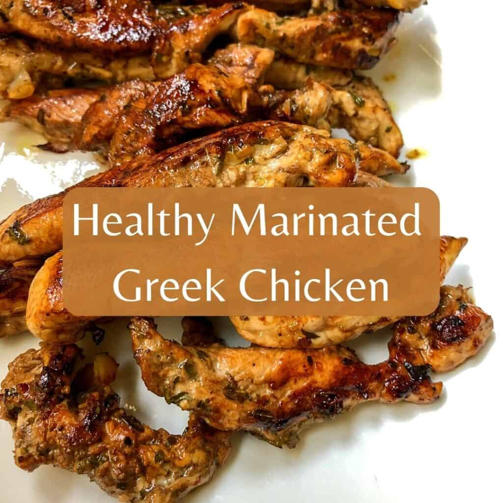greek chicken on plate
