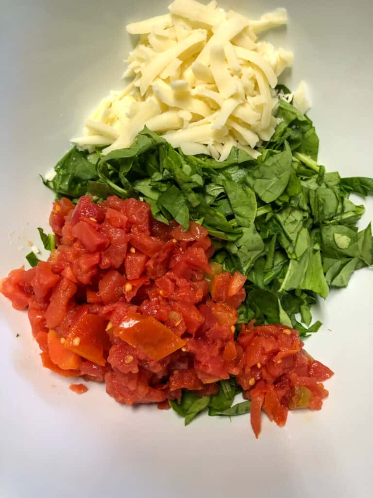rotel, spinach and onions