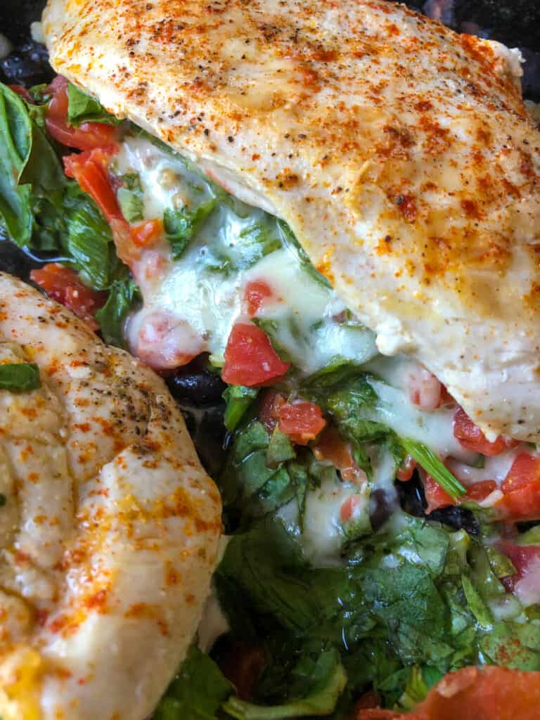 chicken breast stuffed with spinach and cheese
