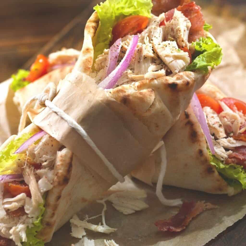 pita wraps on plate