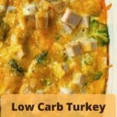 turkey and broccoli casserole in pan