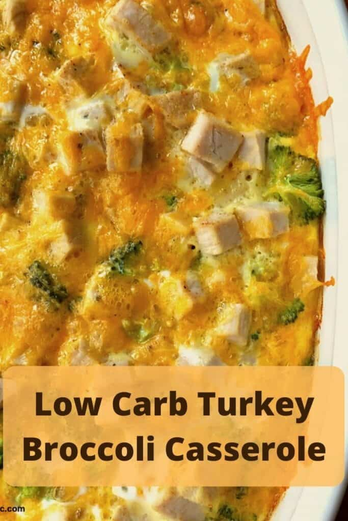 turkey and broccoli casserole in pan