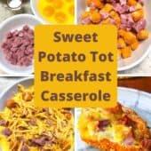 sweet potato tot casserole process shot photo collage
