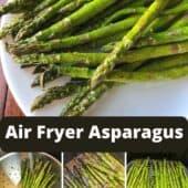 air fryer asparagus on plate