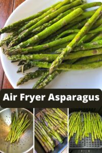 air fryer asparagus on plate