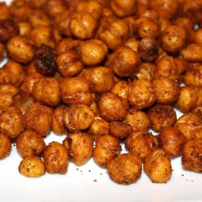 roasted chickpeas on white plate