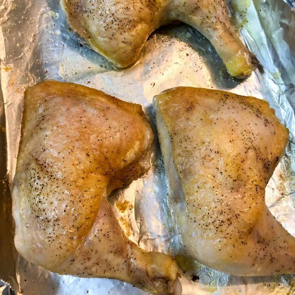 baked chicken on pan