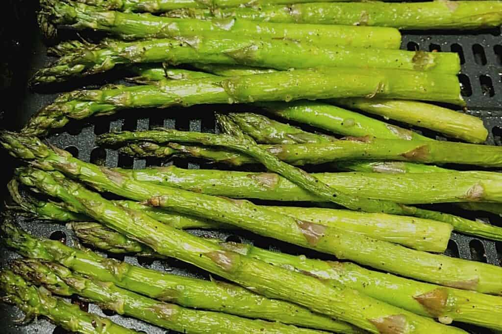 fresh asparagus in air fryer
