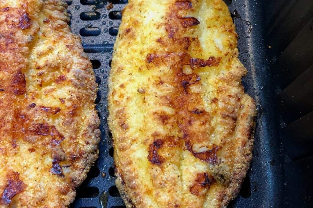 browned catfish in air fryer