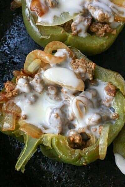 Low Carb Cheesesteak Peppers Story