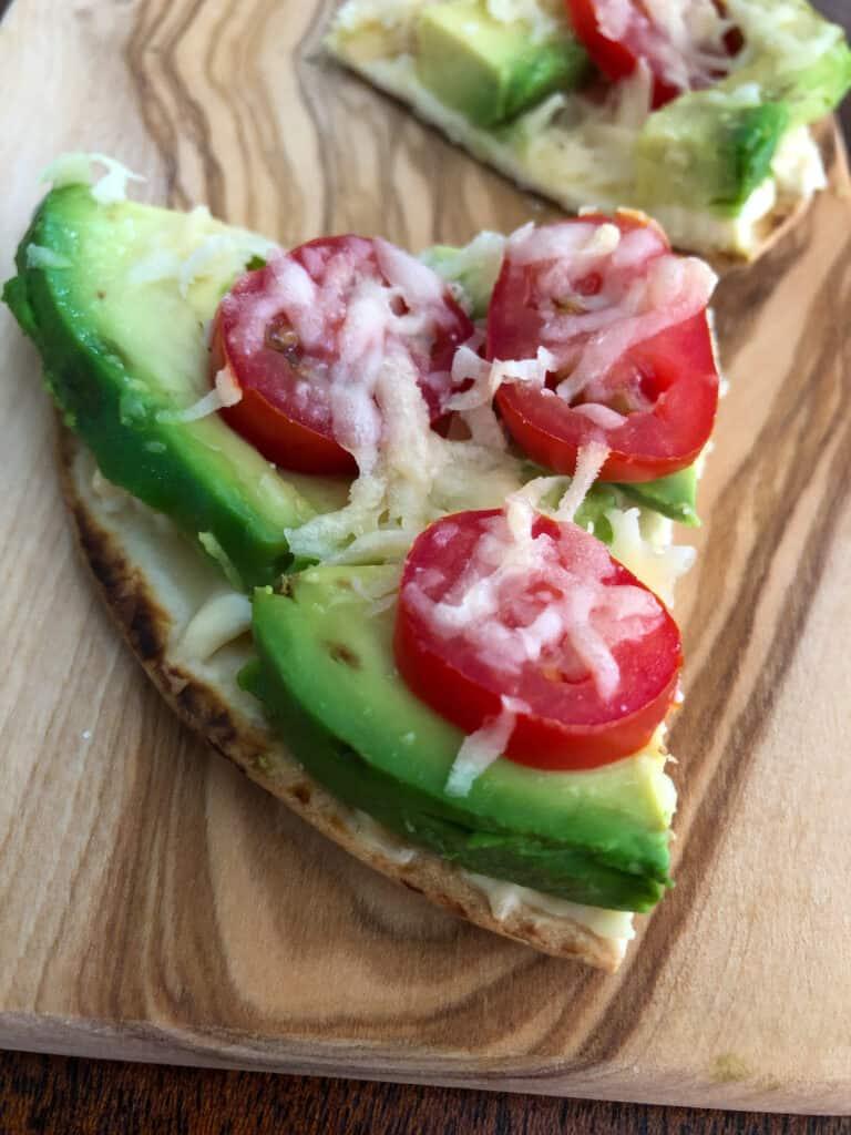 slice avocado pizza