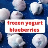 yogurt covered blueberries with text