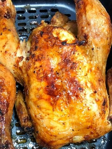 golden brown cornish game hen