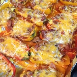 chili and cheese stuffed mini peppers